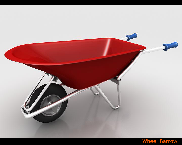 wheel barrow 3d model 3ds max fbx obj 115594