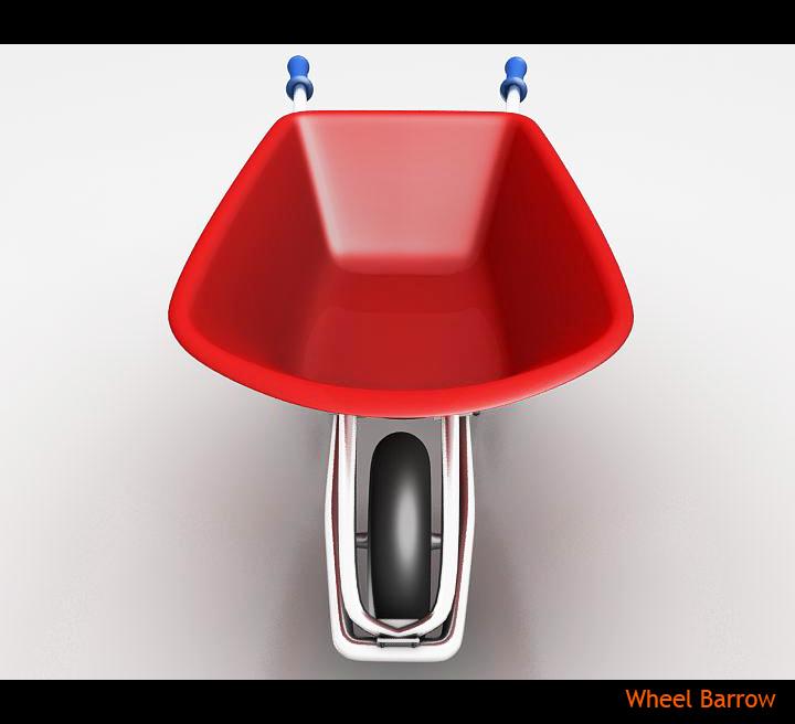 wheel barrow 3d model 3ds max fbx obj 115595