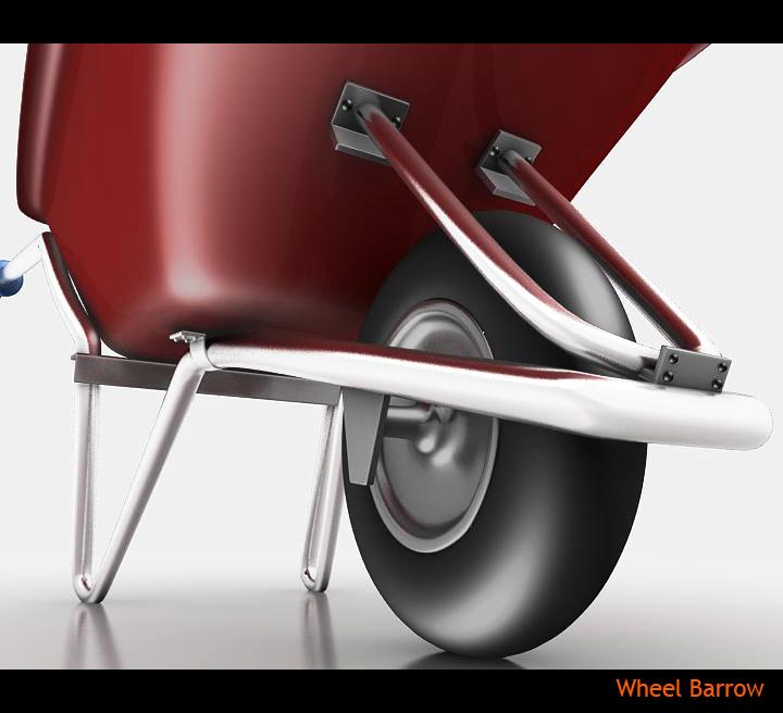 wheel barrow 3d model 3ds max fbx obj 115597