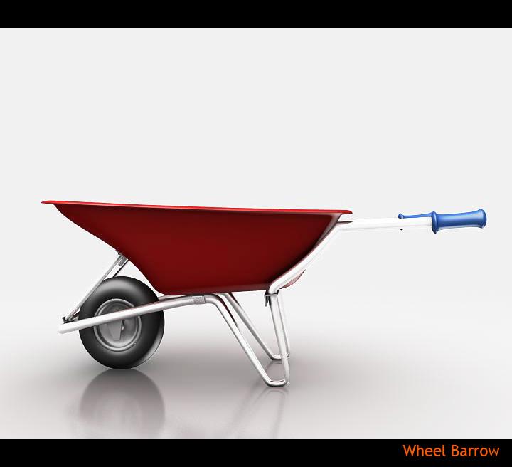 wheel barrow 3d model 3ds max fbx obj 115599