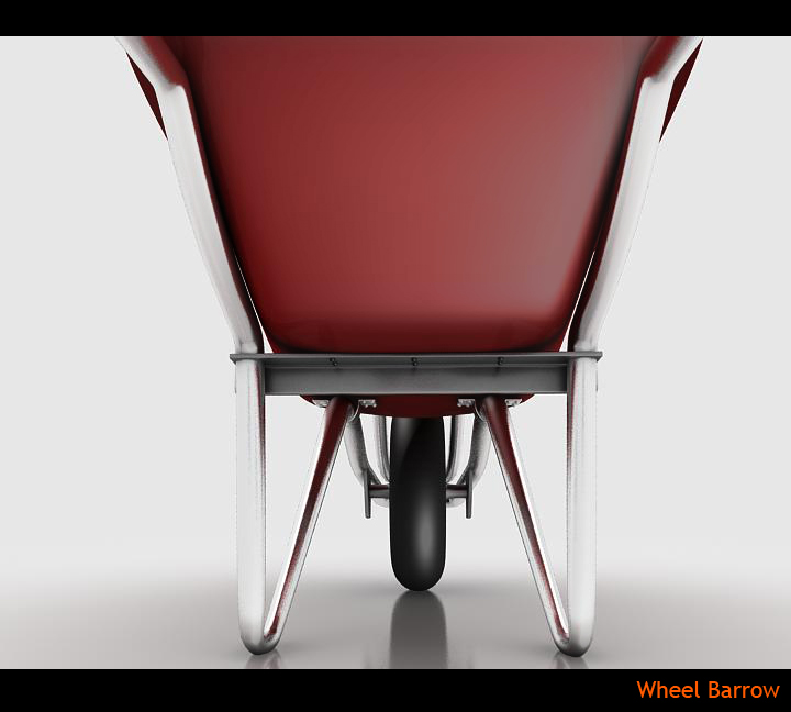 wheel barrow 3d model 3ds max fbx obj 115600