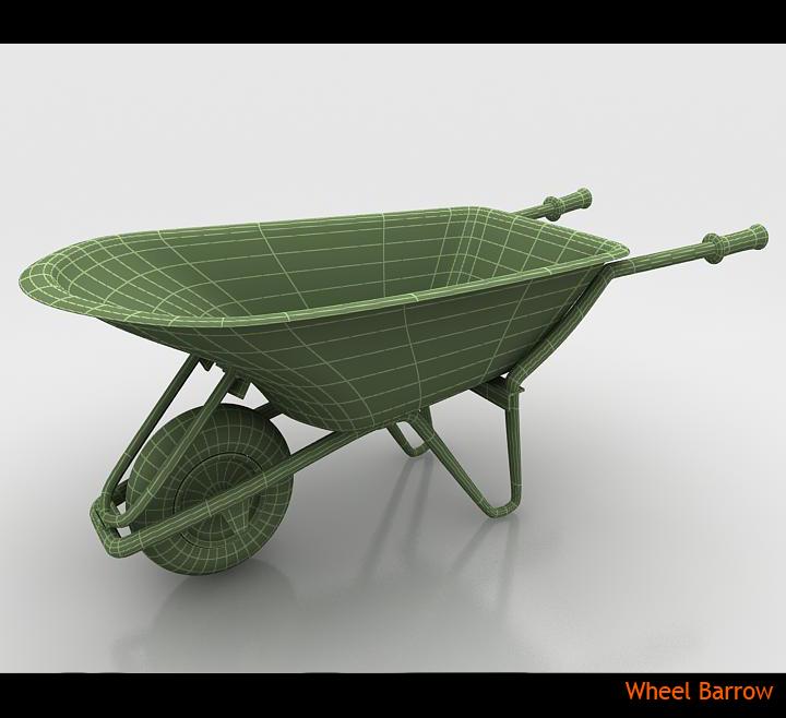 wheel barrow 3d model 3ds max fbx obj 115602