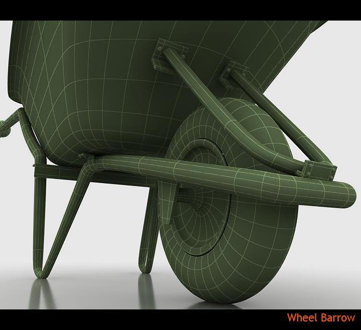 wheel barrow 3d model 3ds max fbx obj 115603