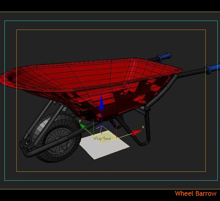 wheel barrow 3d model 3ds max fbx obj 115604