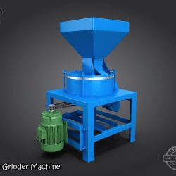 3D Model Flour Grinder Machine ( 217.75KB jpg by Saffan )