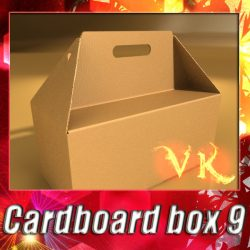 3D Model Photorealistic Cardboard Carrier Box High ( 108.37KB jpg by VKModels )