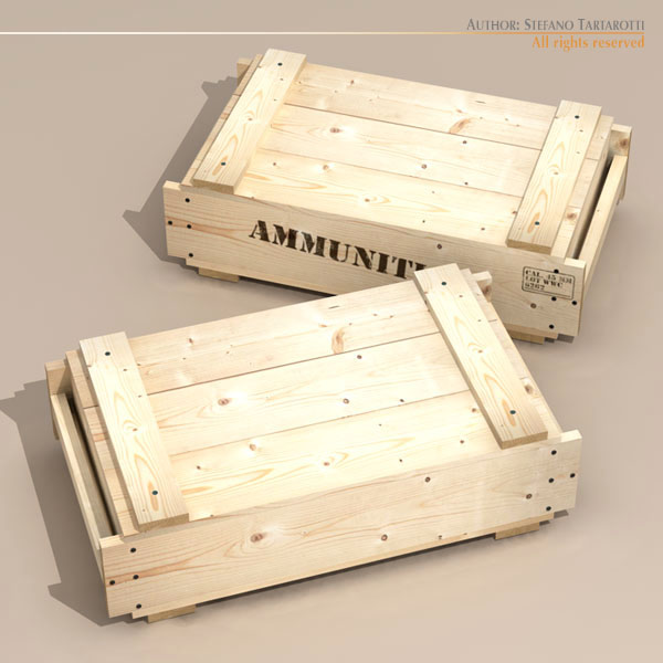 ammo crate 3d model 3ds max dxf fbx c4d d