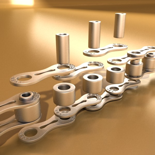 bicycle chain link high res 3d model 3ds max fbx obj 132111