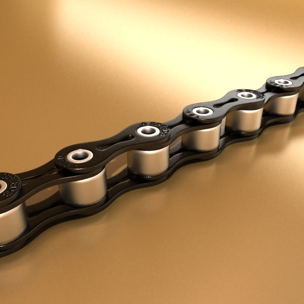 bicycle chain link high res 3d model 3ds max fbx obj 132113