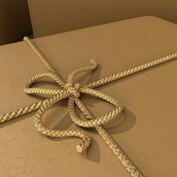 cardboard box wrapped in brown paper 3d model 3ds max fbx obj 130199