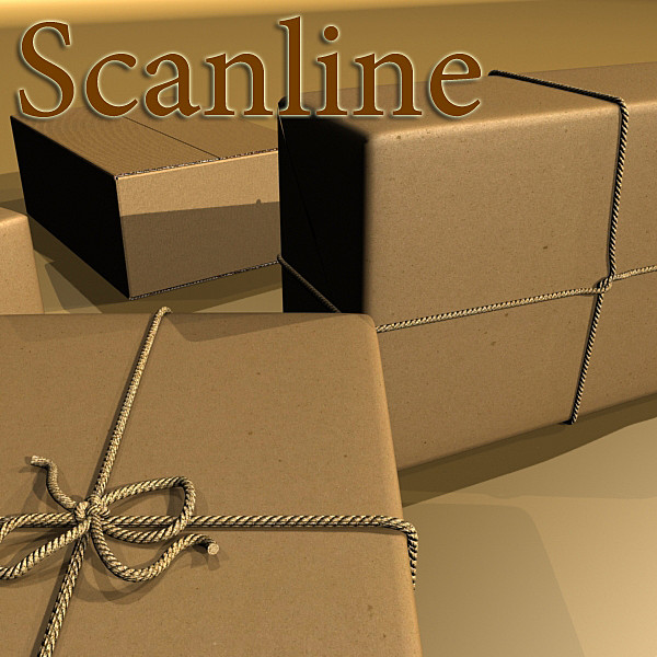 cardboard box wrapped in brown paper 3d model 3ds max fbx obj 130202