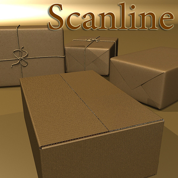 cardboard box wrapped in brown paper 3d model 3ds max fbx obj 130203