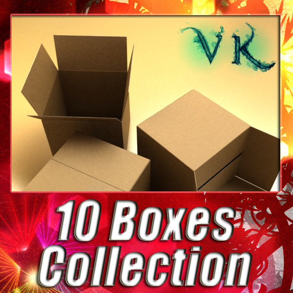 cardboard boxes & pallet high res 3d model 3ds max psd obj 130287