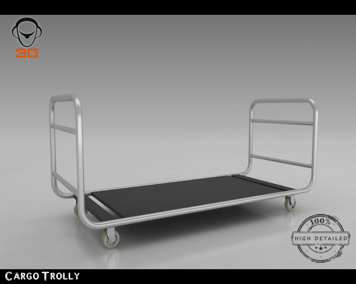 cargo trolly 3d model 3ds max fbx obj 142063