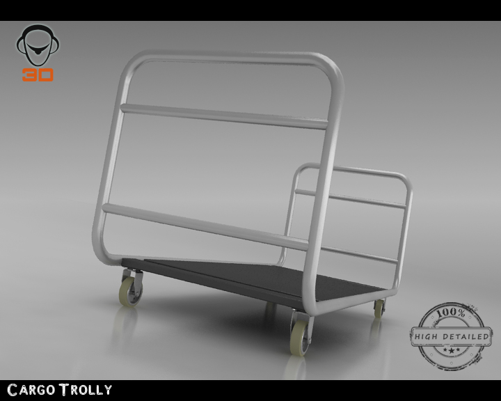 cargo trolly 3d model 3ds max fbx obj 142065