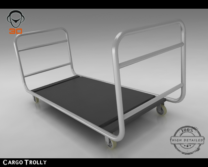 cargo trolly 3d model 3ds max fbx obj 142066
