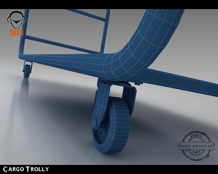 cargo trolly 3d model 3ds max fbx obj 142069