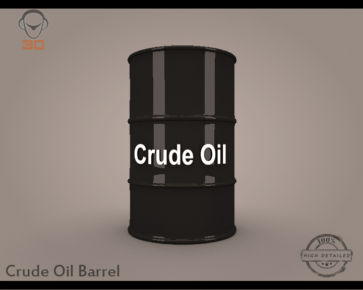 crude oil barrel 3d model 3ds max fbx obj 148298