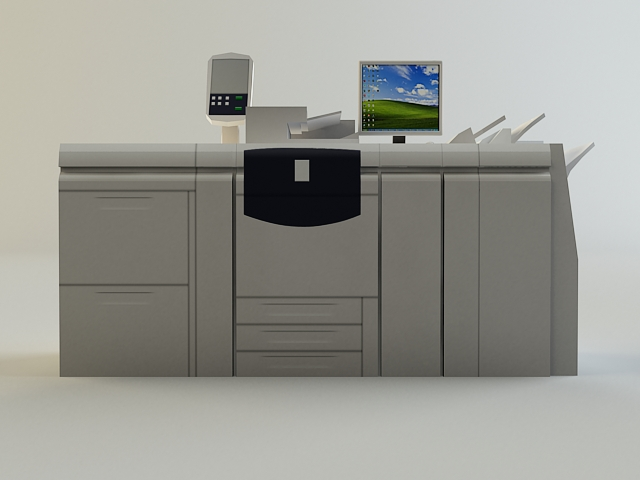 digital printer 3d model 3ds max obj 138429