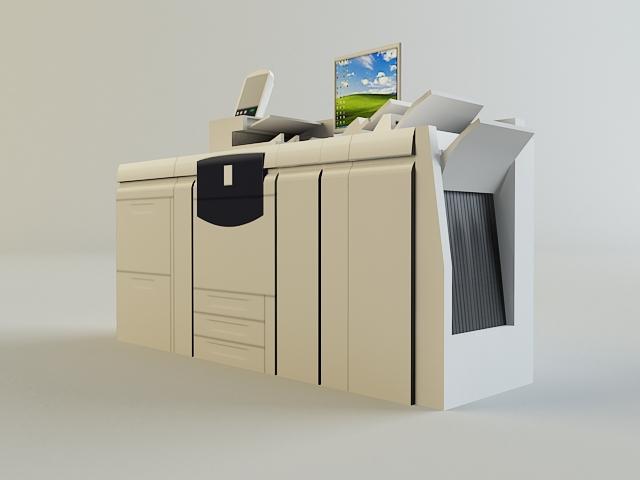digital printer 3d model 3ds max obj 138430