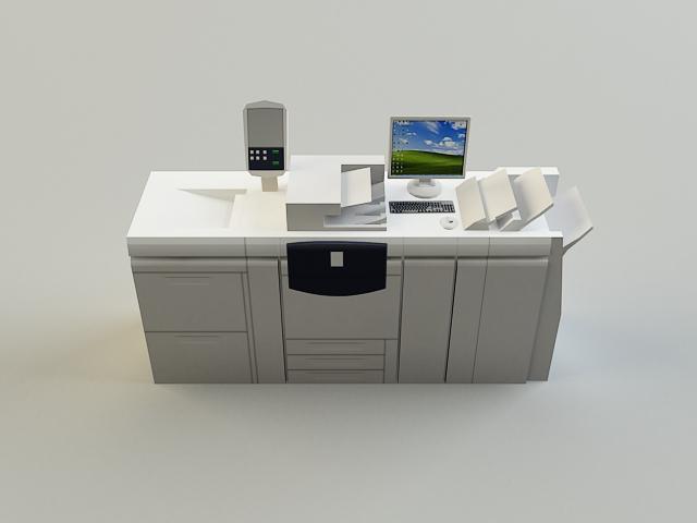 digital printer 3d model 3ds max obj 138431