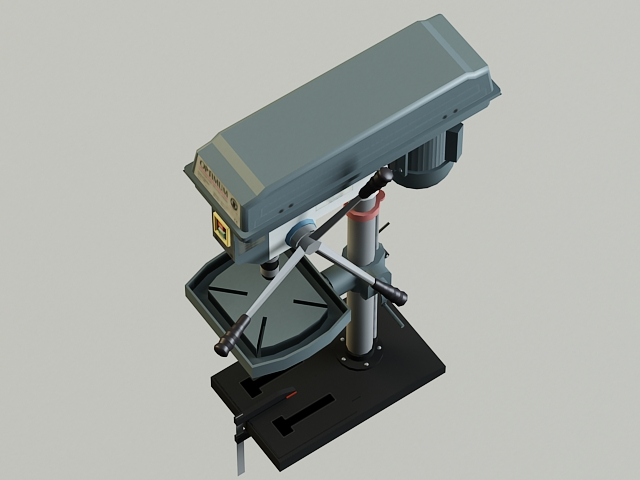 drill machine 3d model 3ds max obj 139103