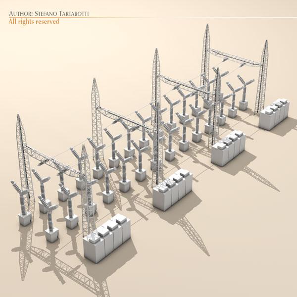 electrical substation elements 3d model 3ds max dxf fbx c4d dae ma mb obj 122663