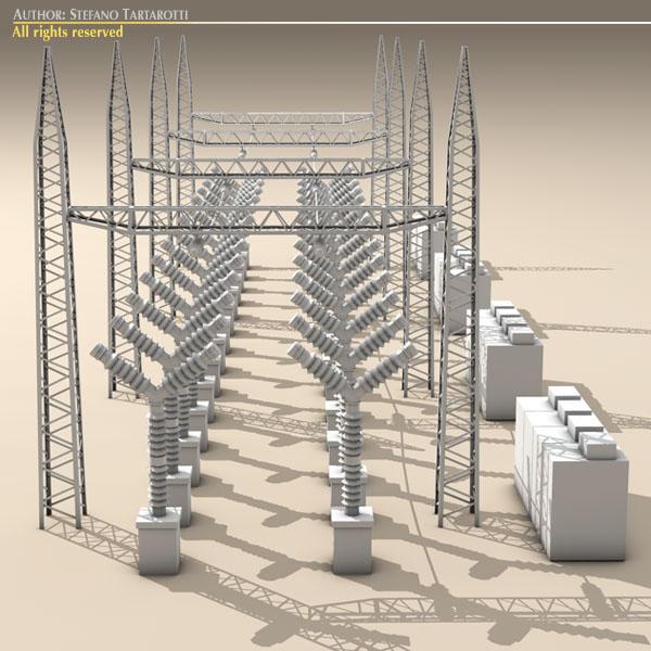 electrical substation elements 3d model 3ds max dxf fbx c4d dae ma mb obj 122665