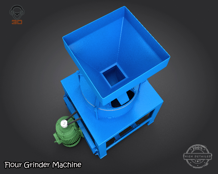 flour grinder machine 3d model 3ds max fbx obj 147688