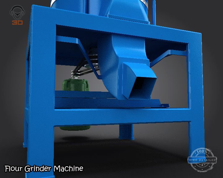 flour grinder machine 3d model 3ds max fbx obj 147690