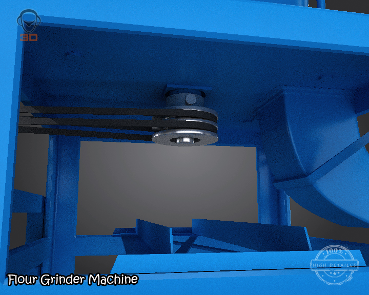 flour grinder machine 3d model 3ds max fbx obj 147696