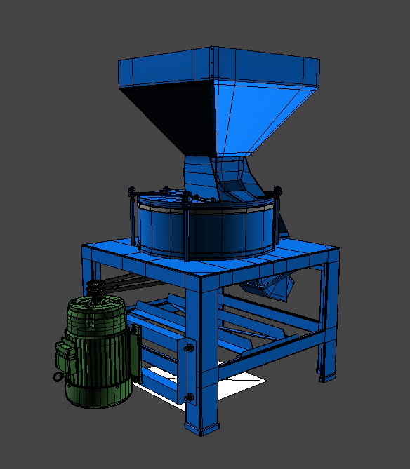 flour grinder machine 3d model 3ds max fbx obj 147703