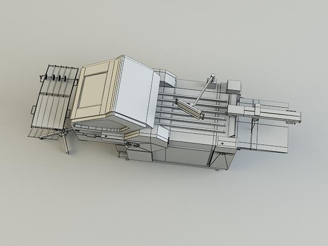 folding machine 3d model 3ds max obj 138441