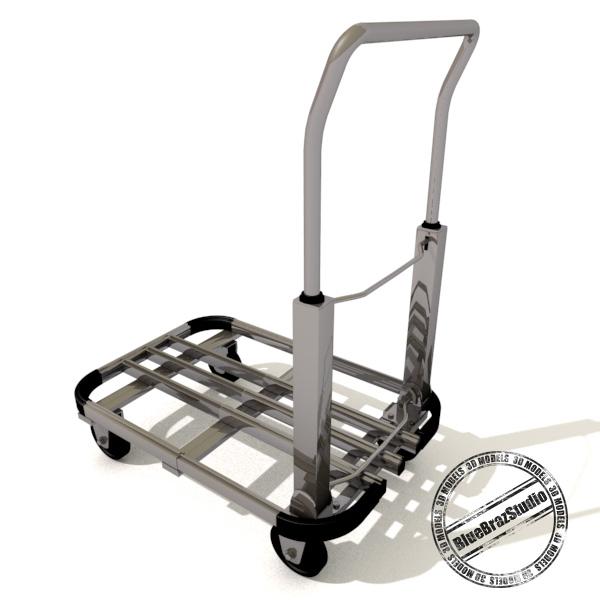 folding trolley 3d model 3ds dxf fbx c4d dae 145855