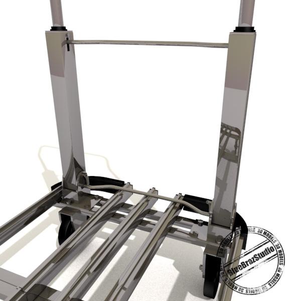 folding trolley 3d model 3ds dxf fbx c4d dae 145856