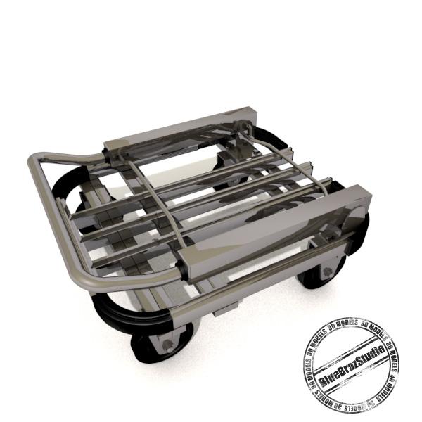 folding trolley 3d model 3ds dxf fbx c4d dae 145857