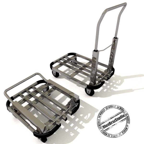 folding trolley 3d model 3ds dxf fbx c4d dae 145859