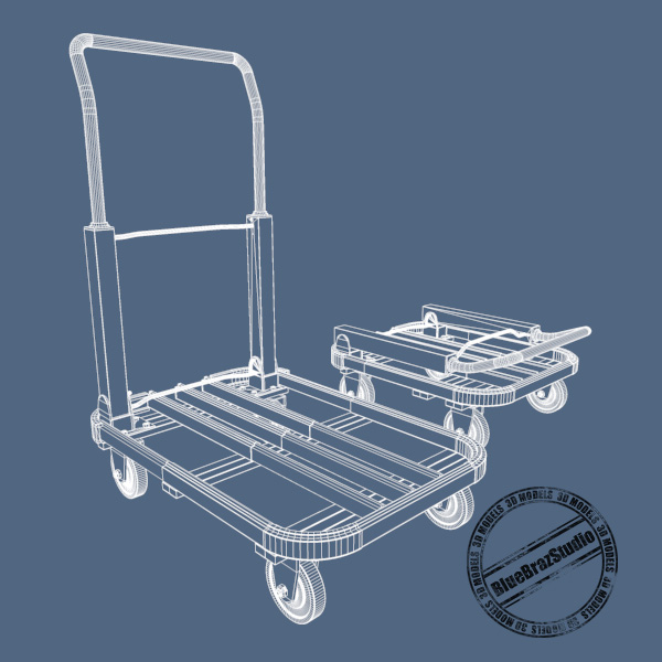folding trolley 3d model 3ds dxf fbx c4d dae 145860