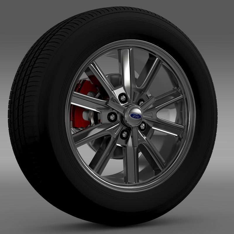 ford mustang 2005 wheel 3d model fbx c4d lwo ma mb obj 138020