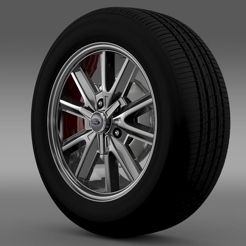 ford mustang 2005 wheel 3d model fbx c4d lwo ma mb obj 138021