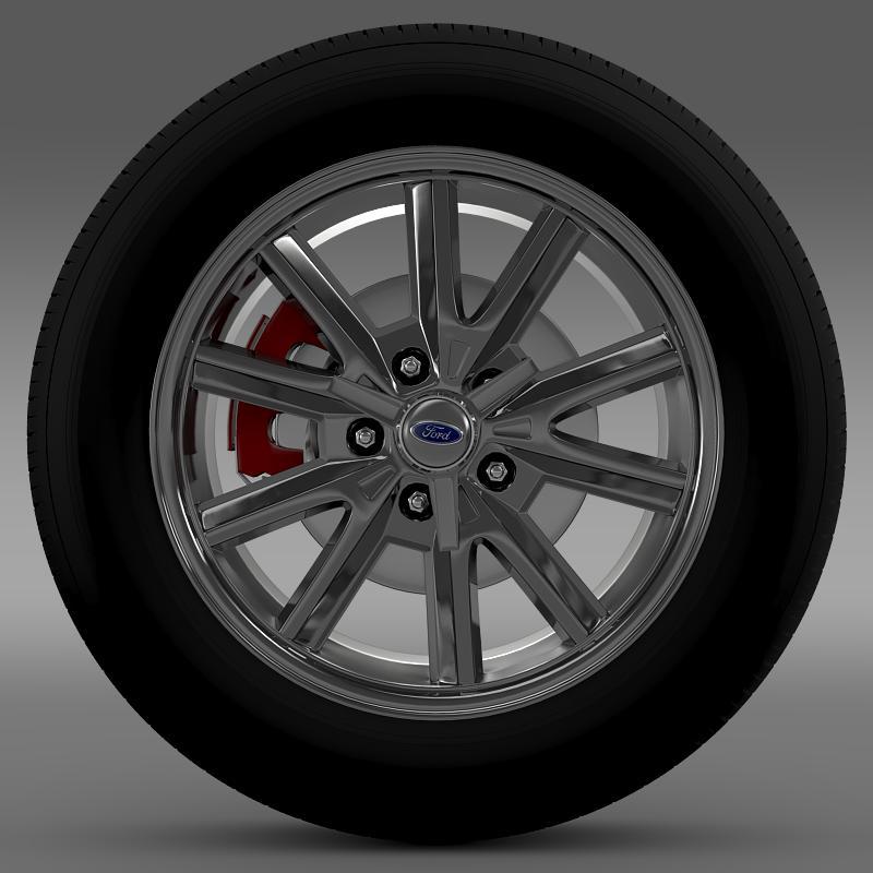ford mustang 2005 wheel 3d model fbx c4d lwo ma mb obj 138022