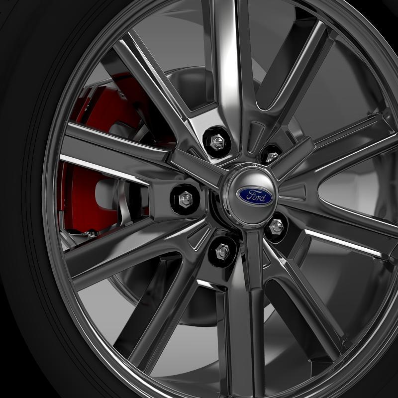 ford mustang 2005 wheel 3d model fbx c4d lwo ma mb obj 138023
