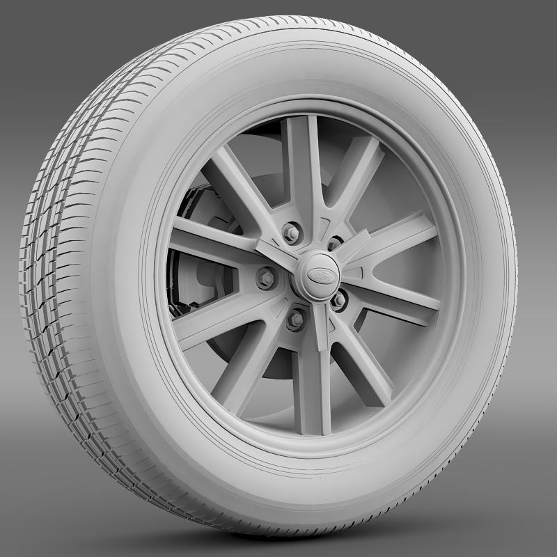 ford mustang 2005 wheel 3d model fbx c4d lwo ma mb obj 138026