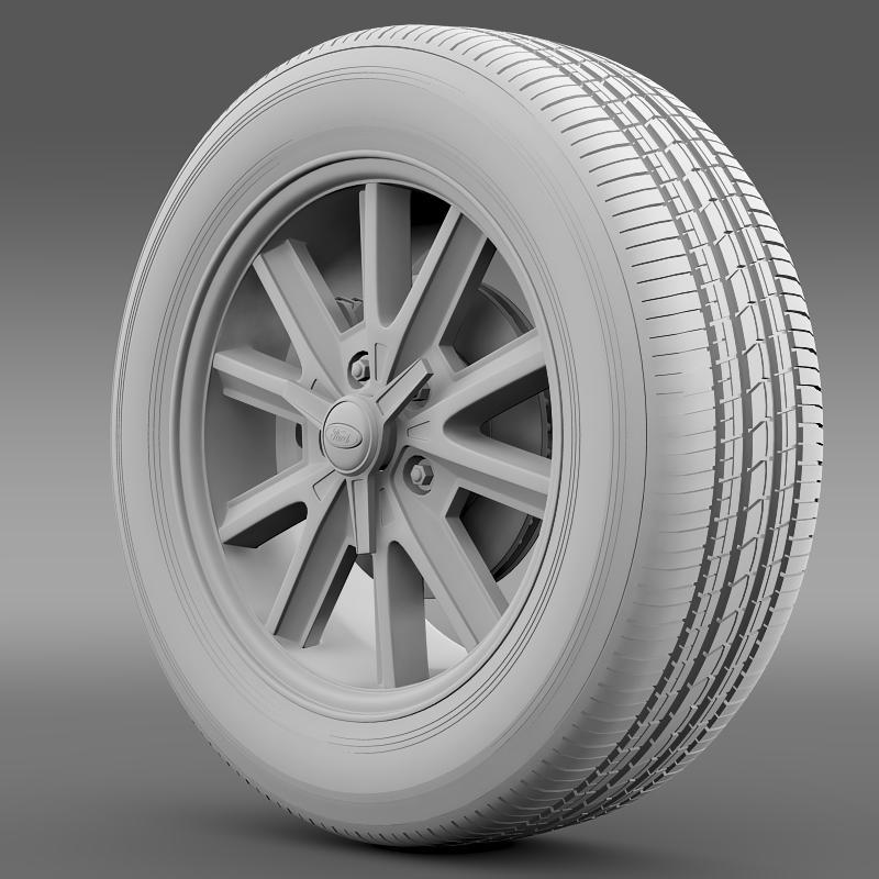 ford mustang 2005 wheel 3d model fbx c4d lwo ma mb obj 138027