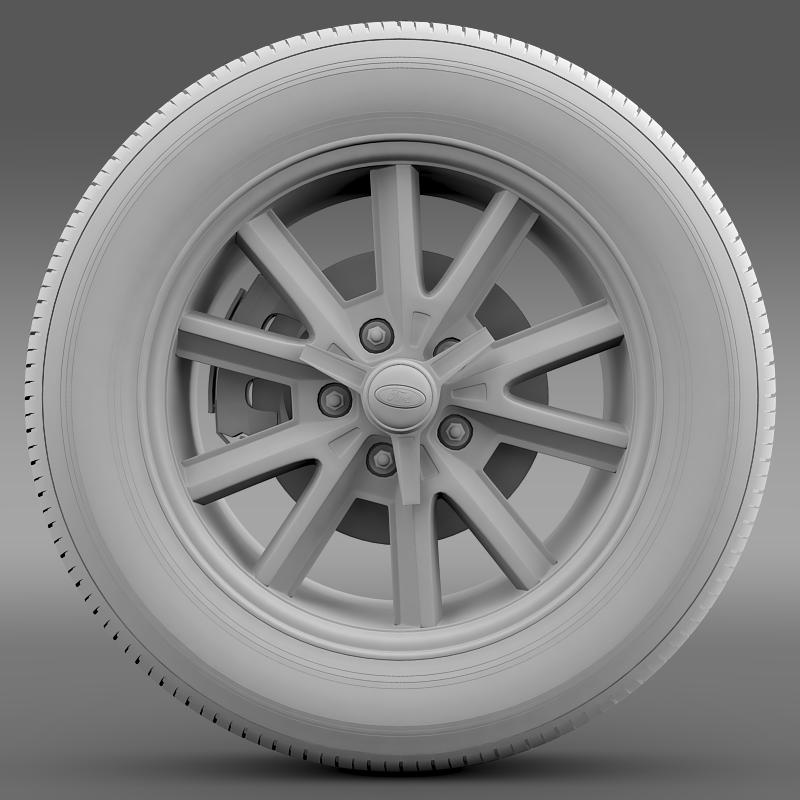 ford mustang 2005 wheel 3d model fbx c4d lwo ma mb obj 138028
