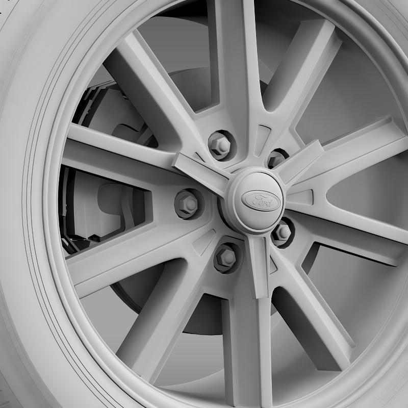 ford mustang 2005 wheel 3d model fbx c4d lwo ma mb obj 138029