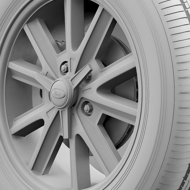 ford mustang 2005 wheel 3d model fbx c4d lwo ma mb obj 138030