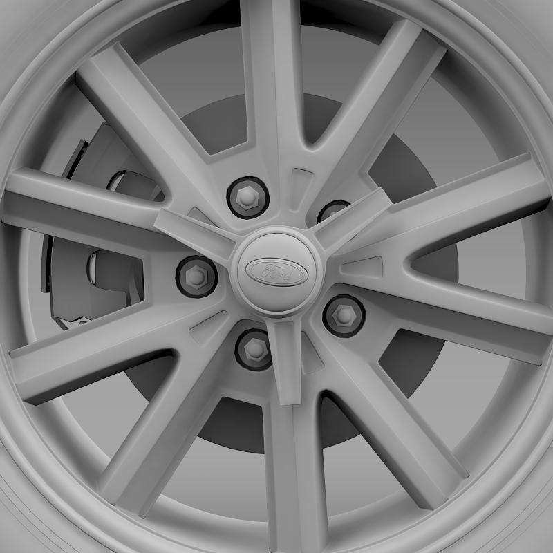 ford mustang 2005 wheel 3d model fbx c4d lwo ma mb obj 138031