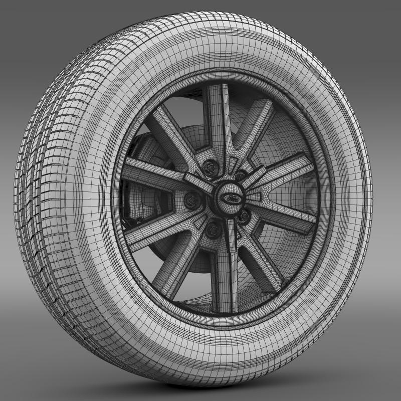 ford mustang 2005 wheel 3d model fbx c4d lwo ma mb obj 138032