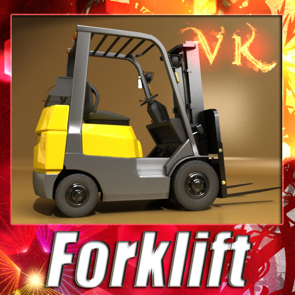 forklift high detail 3d model max fbx obj 130597